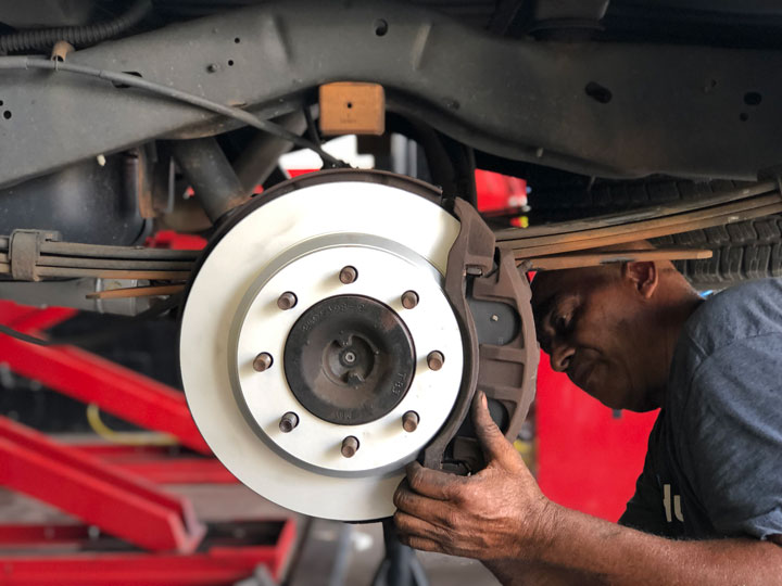 car rotor installation