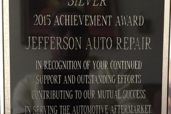auto repair achievement award 2015